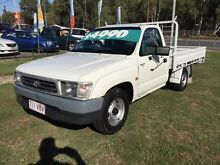 1997 Toyota Hilux RZN149R White 5 Speed Manual Clontarf Redcliffe Area Preview