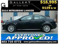 2014 Mitsubishi Lancer ES $129 BI-WEEKLY APPLY NOW DRIVE NOW