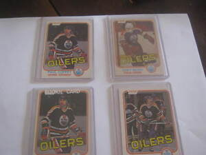 Oilers 1980/81 Rookie cards four as pictured prices in ad