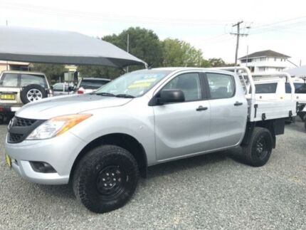 2013 Mazda BT-50 MY13 XT (4x4) Silver 6 Speed Manual Dual C/Chas