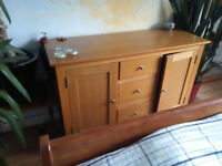 Two Cupboard Three Drawer Wooden Unit for Bedroom or Lounge