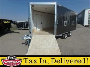 -*Just Arrived!*- 8.5 x 20 Enclosed Snowmobile Trailer by Alcom!