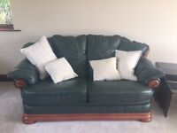 Immaculate Wesley Barrell Leather Bottle Green Settee