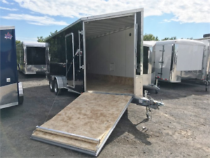 Aluminum Drive On Drive Off Sled Trailers Extra Height Clearance