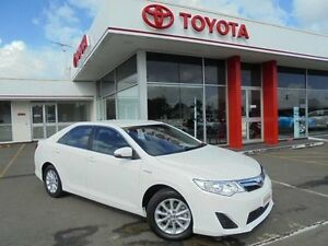 2014 Toyota Camry AVV50R Hybrid H Diamond White Continuous Variable Sedan Belmore Canterbury Area Preview