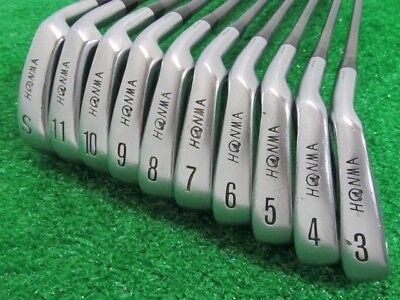 10 Piece Iron Set - HONMA Iron  Gold Mogra GP LB-606 3 I to 11 I S 10 pieces FLEX-R-1 b1642