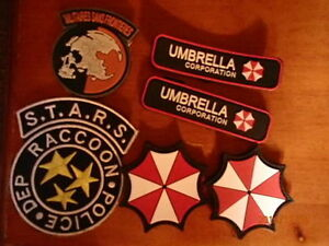 Resident evil & metal gear patches.  mint shape. collectable