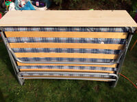fold out small double bed great condition esp matteress hardly been used from smoke free home