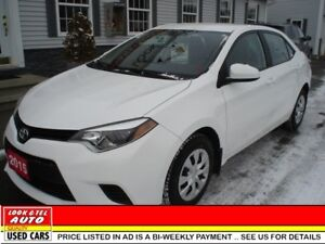2015 Toyota Corolla LE $16495.00 with $2K Down or Trade-in*