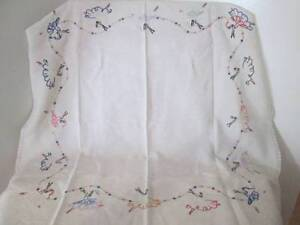 Small Retro Tablecloth With Embroidered Ballerinas. Morayfield Caboolture Area Preview
