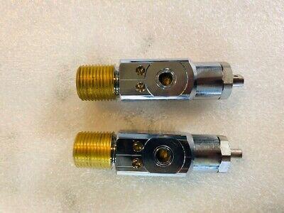 Pack Of 2 Sherwood Oxygen Post Medical Valve Cylinder Cga-870 12 Inlet 3360psi