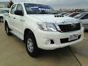 2013 Toyota Hilux KUN26R MY12 SR (4x4) Glacier White 5 Speed Manual Dual Cab Pick-up Melton Melton Area Preview