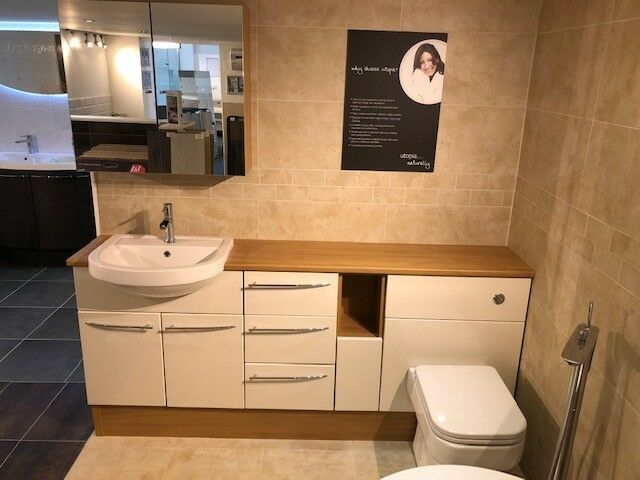 Utopia Tuscan Gloss Ivory Furniture Run Ex Display In Stamford
