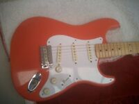 FENDER STRATOCASTER FIESTA RED . HANK MARVIN STYLE