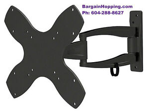 "17"" - 37"" 3-Way Full Motion Tilt & Swivel Tv Bracket Wall Mount"