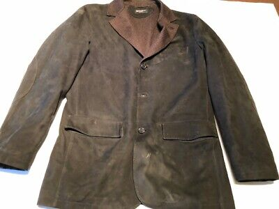 $4800 Authentic Mens Kiton Black Micro Suede Cashmere Lined 3 button Jacket 40  Lined Microsuede Jacket