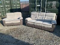 Brand New 3 Seater And 2 Seater Recliner Sofa Set Suite