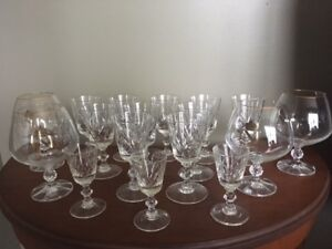 Assorted Crystal Glasses only $25