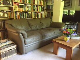 Large American 3 Seater Leather Sofa
