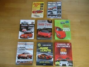 GUIDE DE L'AUTO, IMPECCABLE, 2001, 2004, 2006, 2012, ETC..