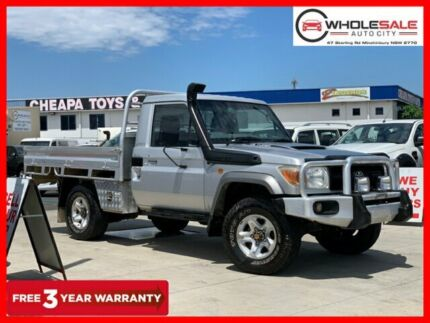 2010 Toyota Landcruiser VDJ79R MY10 GX Cab Chassis Single Cab 2dr Man 5sp, 4x4 4.5DT Silver Pearl Minchinbury Blacktown Area Preview