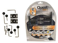 Quest USM1 Universal Wall Bracket Mount for Speakers Up to 10lb (PAIR)