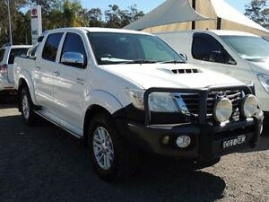 2012 Toyota Hilux KUN26R MY12 SR5 (4x4) White 4 Speed Automatic Dual Cab Pick-up South Nowra Nowra-Bomaderry Preview