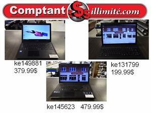 Nous avons un vaste choix de Portable a bas prix Chez Comptantillimite.com 819-822-7777