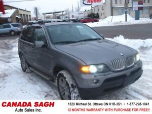 2004 BMW X5 4.4i LUXURIOUS AWD ! 12M.WRTY+SAFETY $6990