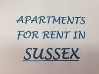 1-2-3 Bedroom Apartments in Sussex