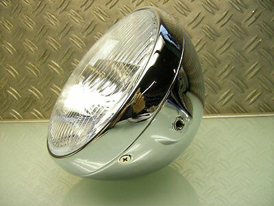 CAFE RACER SCHEINWERFER BRITISH BRAT STYLE OLD SCHOOL HEAD LIGHT LAMP SR 500