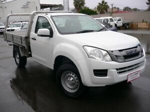 2016 Isuzu D-MAX TF MY15 SX HI-Ride (4x2) White 5 Speed Automatic Cab Chassis Melrose Park Mitcham Area Preview