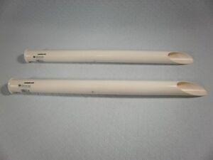 TWO  HURRICANE PLASTIC TUBULAR SAND SPIKES- 27