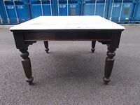 Victorian Marble Top Heavy Table For Sale