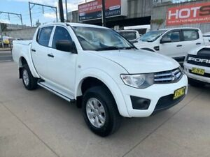 2014 Mitsubishi Triton MN MY15 GLX Double Cab White 5 Speed Manual Utility Granville Parramatta Area Preview