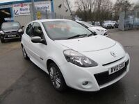 Renault Clio DYNAMIQUE TOMTOM DCI 3d 88 BHP full service history (white) 2012