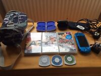 Sony Psp 3003 Blue With Games And Accessories