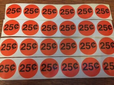 24 25 Cents Small Stickers - Circle 1 Vending Machine Stickers High Quality