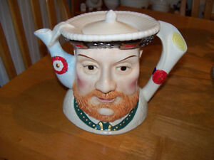 "James Sadler ""Characters of Britain"" Teapots (2) - like new/mint"