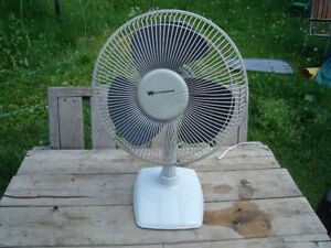 "Excellent Condition: 13"" Electric Fan, Oscillating, 3 Speeds"