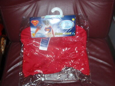 Superman Pet Costume Dog Superhero Halloween Fancy Dress SZ LARGE NEW