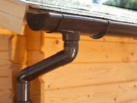 Plastic guttering kit for gabled roof   Available in brown, grey, black, anthracite and white