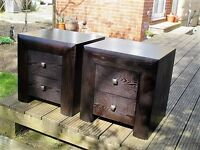 Two Wooden Bedside Cabinets in good condition.