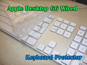 apple wired desktop imac g6 pc tpu clear keyboard skin cover protector ebay. Black Bedroom Furniture Sets. Home Design Ideas