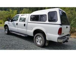 2006 FORD F250 4X4 ONLY 123,719 KMs XLT CREW CAB, Canopy $15,900 Prince George British Columbia image 2