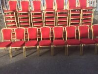 Red Burgess Stacking Chair