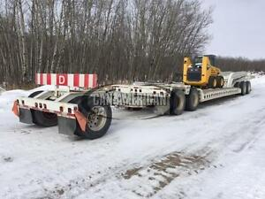 1981 SIEBERT 40TON DOUBLE DROP DETACH TANDEM AXLE JEEP & BOOSTER