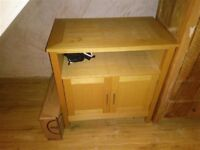 Solid Oak Small Sideboard / Storage Unit