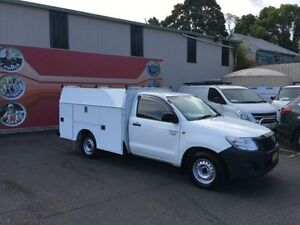 2014 Toyota Hilux TGN16R MY14 Workmate White 4 Speed Automatic 2D Cab Chassis Gosford Gosford Area Preview