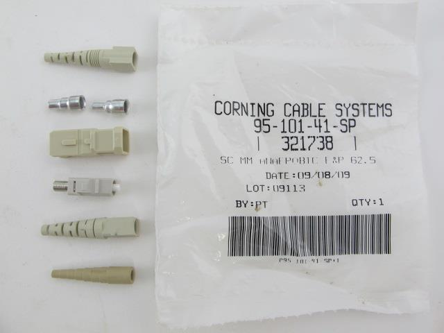 Lot of 20 Corning 95-101-41-SP Anaerobic SC Fiber Connector 62.5µm multimode NEW